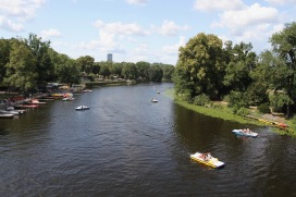 River Spree at Insel der Jugend, Berlin