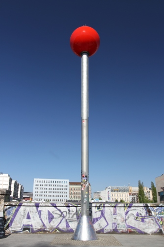 Red ball on the River Spree, Berlin