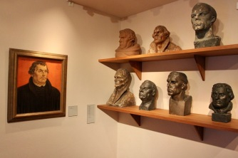 Busts and portrait of Luther, Lutherstadt Wittenberg, Germany