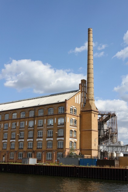 Old factory on the River Spree, Berlin, Germany