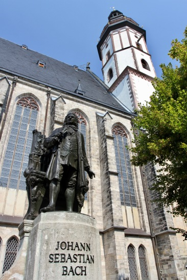 Bach memorial, Thomaskirche, Leipzig, Germany