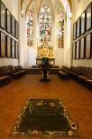 Bach's grave, Thomaskirche, Leipzig, Germany