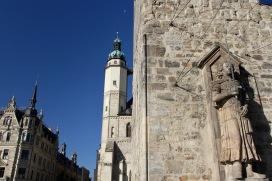 Roter Turm and Marktkirche Unser lieben Frauen, Halle, Germany