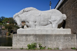 Giebichenstein Bridge, Saale River, Halle, Germany