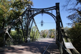 Bridge on the Saale River, Halle, Germany