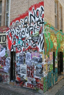 This is not a tourist attraction, Street Art, Berlin, Germany