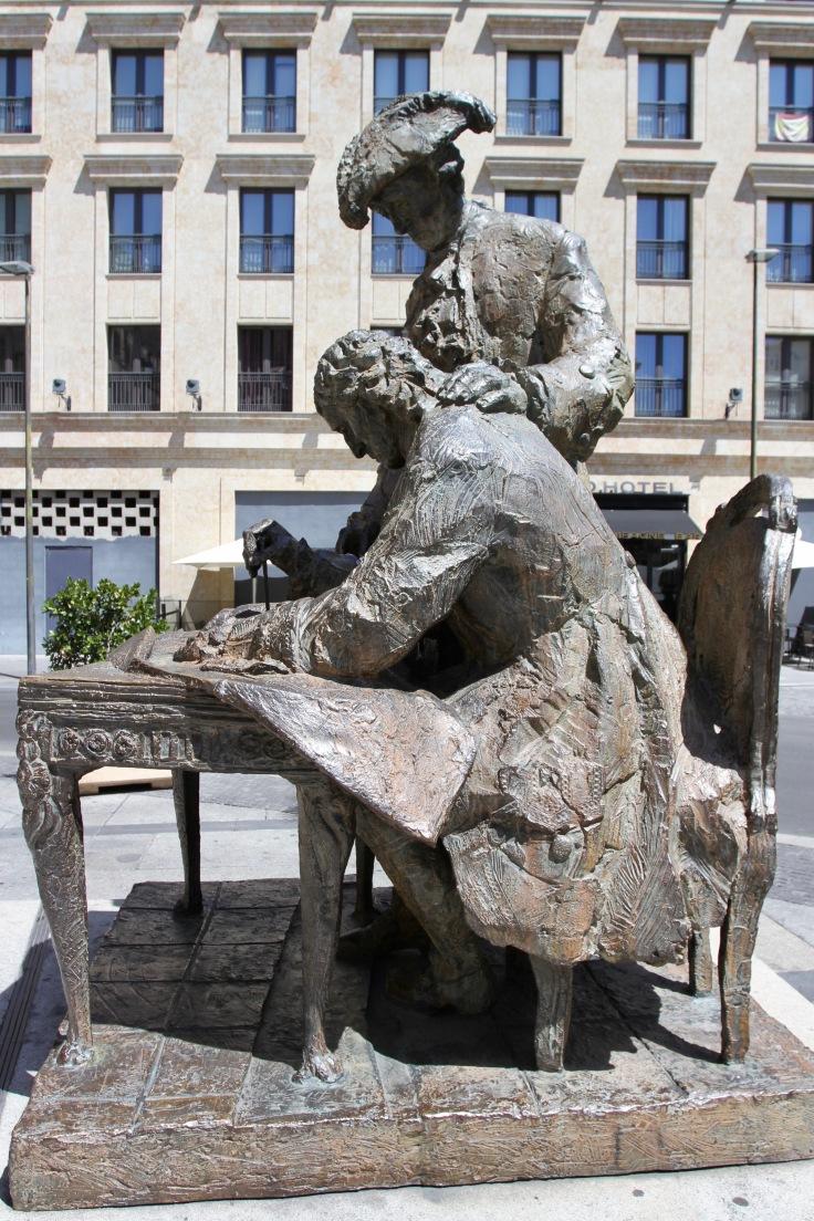 Monumento a Churriguera y al Conde Francos, Salamanca, Spain