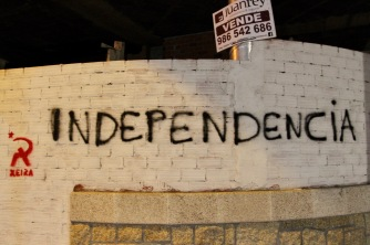 Independence for sale? Cambados, Galicia, Spain