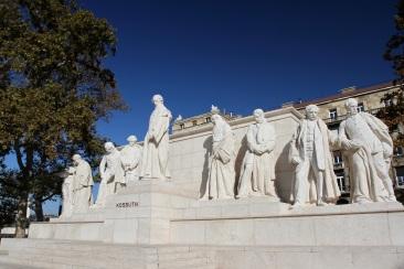 Statue, Hungarian Parliament, Budapest, Hungary
