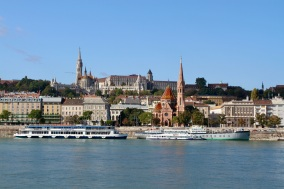 Castle Hill from across the Danube, Budapest, Hungary