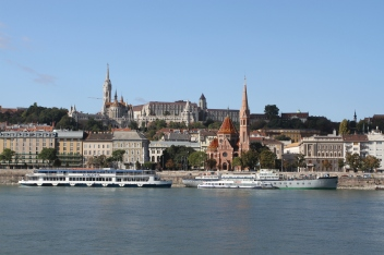 Castle District across the Danube, Budapest, Hungary