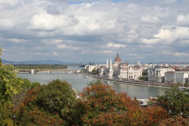 Hungarian Parliament from Castle Hill, Budapest, Hungary