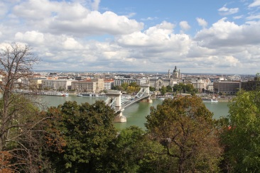 Views over Budapest from Castle Hill, Budapest, Hungary