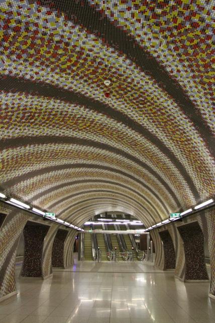 Metro station, Budapest, Hungary