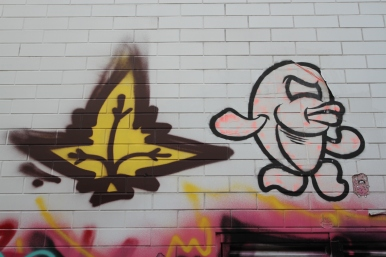 Fishes Invasion by Merioone, Street Art, Budapest, Hungary
