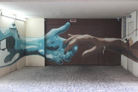 Hands, Street Art, Budapest, Hungary