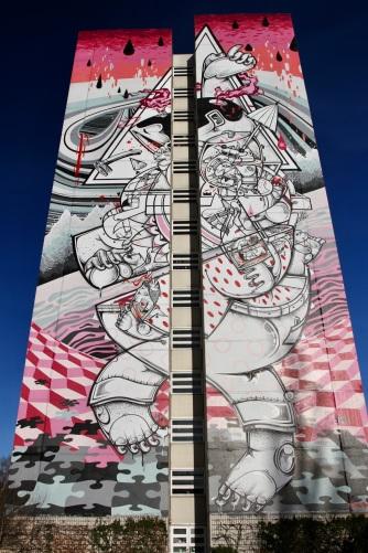 On Tip Toes by Hownosm, Street Art, Berlin, Germany
