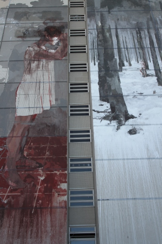 Willkommen Refugees by Borondo, Street Art, Berlin, Germany