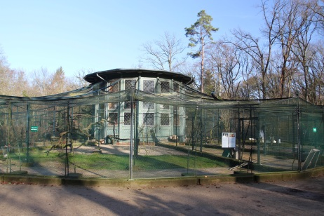 Bird cages, Pfaueninsel or Peacock Island, Berlin, Germany