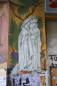 Anarchist Nun, Street Art, Berlin, Germany