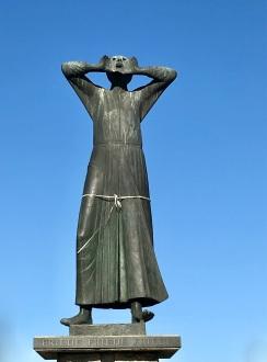Der Rufer, The Caller, anti-war memorial, Tiergarten, Berlin, Germany
