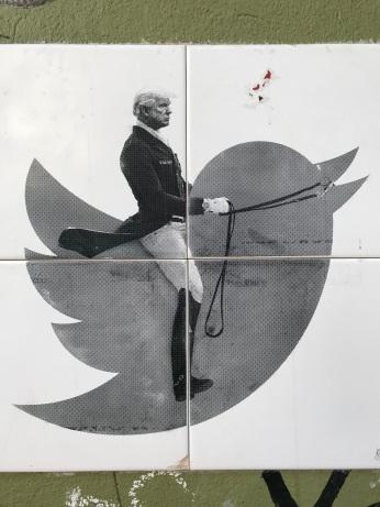 Trump Tweets, Street Art, Berlin, Germany