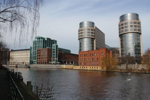 River Spree at Moabit, Berlin, Germany