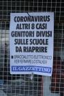 Coronavirus headlines, Venice, Italy