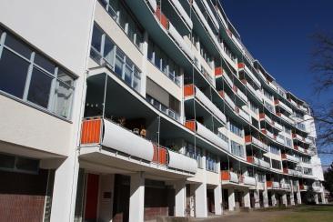 Scheibenhochhaus by Walter Gropius and Wils Ebert, Hansaviertel, Berlin, Germany