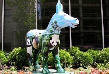 Democratic Party donkey, Washington DC, United States