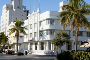 Art Deco buildings, South Beach, Miami, Florida, United States
