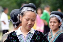 Young performers, Hmong village, Chiang Mai, Thailand