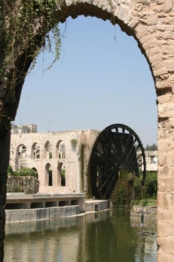 Ancient waterwheels, Hama, Syria
