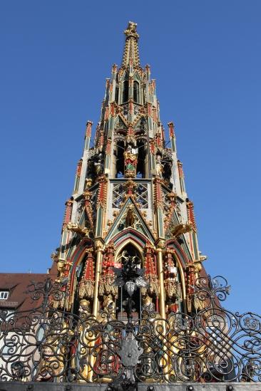 Schoene Brunnen, Nuremberg, Bavaria, Germany