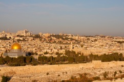 View of Jerusalem from Mount of Olives, Israel and Palestine