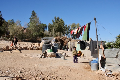 Bedouin settlement of Umm al-Kheir, West Bank, Palestine