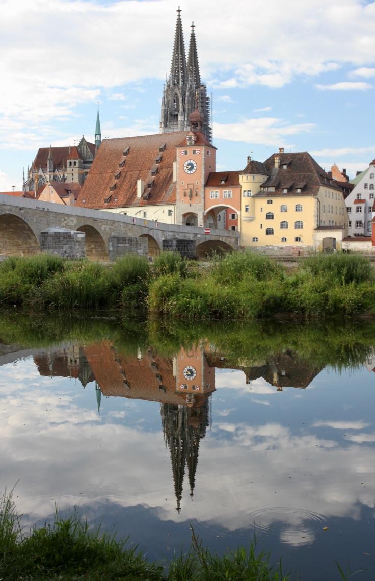Old Stone Bridge, River Danube, Regensburg, Bavaria, Germany