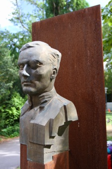 Statue of Claus von Stauffenberg, Bamberg, Bavaria, Germany