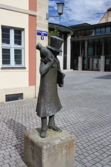 Statue of E.T.A. Hoffmann, Bamberg, Bavaria, Germany