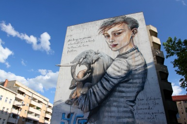 As Long As You Are Standing, Herakut, Street Art, Berlin