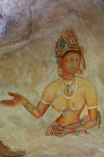 The Sigiriya Damsels, Sigiriya, Dambulla, Sri Lanka