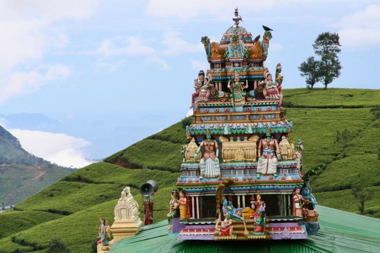 Hindu shrine in tea fields, Nuwara Eliya, Sri Lanka