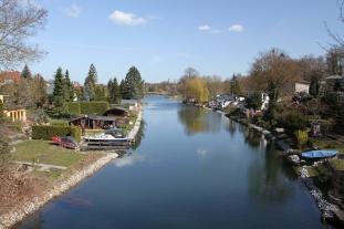 Waterway, Rüdersdorf, Brandenburg, Germany