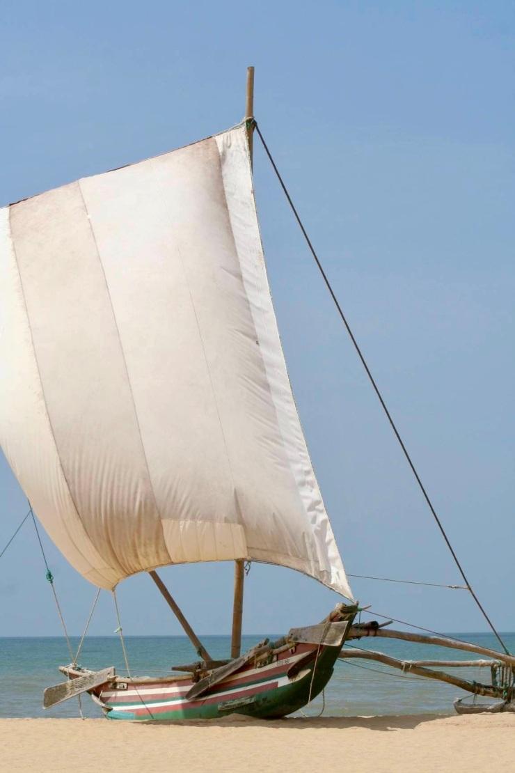 Traditional Sri Lankan fishing boats
