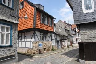 Half-timbered houses with slate, Goslar, Germany