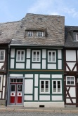 Half-timbered house with slate, Goslar, Germany